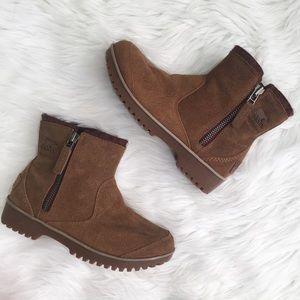 Sorel Meadow Zip Pull-On Waterproof Brown Boots